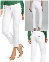 "Hudson Beth Crop Baby Boot 27"" Jeans Stretch Skinny Denim Flap Pockets"