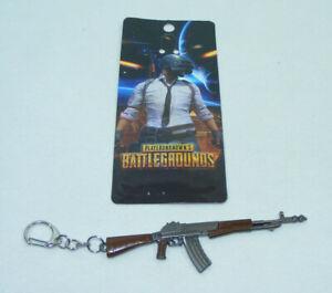 PUBG Arme porte clés métal AK 47 Kalachnikov 11,5cm clefs Jeu vidéo Militaria