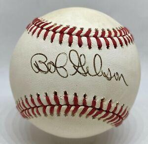 Bob Gibson Single Signed Baseball Autographed AUTO Cardinals HOF