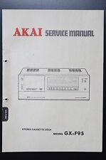 AKAI gx-f95 ORIGINALE MANUALE DI SERVIZIO/Manuale Servizio/SCHEMA ELETTRICO