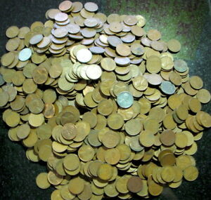 Wheat Penny Lot. 1,000 UNSEARCHED Bagged and Tagged NON-Touched!