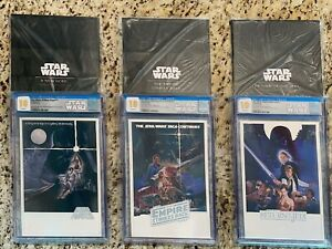 Star Wars Trilogy Silver Foil Set CGC 10 GEM FIRST RELEASES New Hope Empire Jedi
