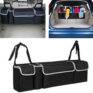 Black Multi-use Car Trunk Seat Back Organizers Bag For Interior Accessories