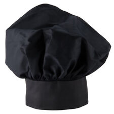 a8cb561e432 NEW EASY WEAR CHEF HAT BLACK CLOTH ONE SIZE FIT ALL FREE SHIPPING USA
