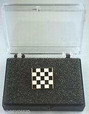 Masonic Mosaic Carpet Gold Plated Enamel Lapel Pin Badge In Gift Box
