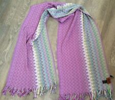 """Missoni Scarf Shawl Long 182cm x 46cm   6' x 18"""" Authentic New Made Italy  Rrp £"""