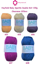Hayfield Baby Sparkle DK 100g - Clearance Offer - Includes FREE PATTERNS
