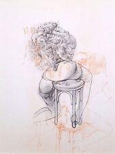 """HANS BELLMER mounted print, 1968, surrealist erotic Traité de Morale, 12 x 10"""" 9"""