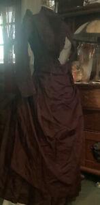 Antique Ladies Victorian Bustle dress