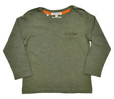 Boys T Shirt Top Long Sleeves Olive Green Ages 12-18M 18M-2Y 3-4Y 5-6Y