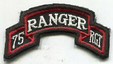 Vietnam Era US Army 75th RANGER RGT Color Scroll Tab Patch Cut Edge