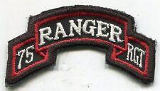 Vietnam Era US Army 75th RANGER RGT Color Scroll Tab Patch Cut Edge