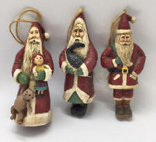 Boyds Nantucket Santa Ornaments 1994 Ken Walker 1st Edition Very Rare Set of 3