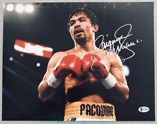 Manny Pacquiao Signed PACMAN Boxing Auto 11x14 Autograph Photo #7 (Beckett BAS)