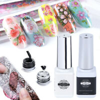 Art Decal Foil Nail Glue Transfer Starry Sticker Adhesive Transfer Paper UVGel n