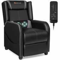 Massage Gaming Recliner Chair Single Living Room Sofa Home Theater Seat Gray