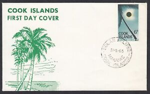 COOK ISLANDS, First Day Cover,  Solar Eclipse, Manuae,  31st May 1965 - FDC
