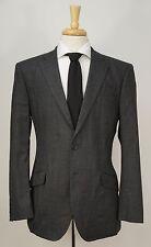 RICHARD JAMES Savile Row Dark Gray & Black Striped Wool Dual Vent Suit 40 R