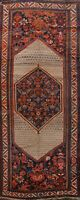 Pre-1900 Antique Vegetable Dye Geometric Malayer Hamedan Hand-made Area Rug 6x13