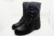 Clarks womens Leather Ankle Biker Boots Waterproof Goretex Black Lined Padded