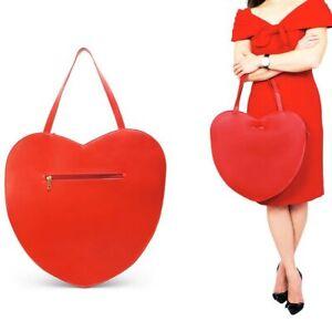 New That's Vintage Genuine Leather Handbag Shoulder Bag Heart Shape RRP $249.99