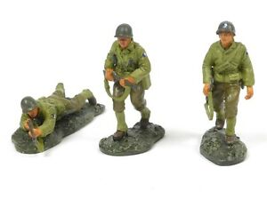 W Britain 17589 World War II US Infantry 1/30 Scale Collectible Soldiers