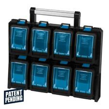 TAFCO Product Tool Storage 8 Compartment Small Parts Organizer Wall Mount Blue