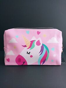 Fairy Cartoon Unicorn Ladies Pink Cosmetic Bag Girls Carry All Pouch Hand Purse