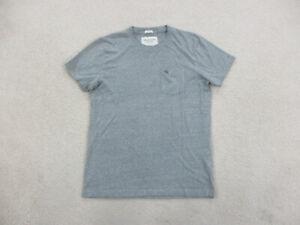 Abercrombie & Fitch Shirt Adult Medium Gray Moose Pocket Tee Preppy Mens