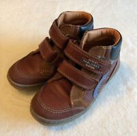 Pablosky Boys Boots EU 28 Brown Leather Quality Comfort Double Strap