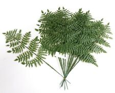 "14"" Green Plastic Fern (12 Picks) Plant Home Office Kitchen Wedding Flower Decor"