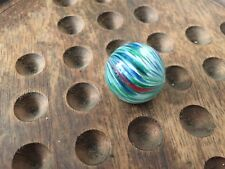 Early Antique Blue Green Turquoise Spotty German Onion Skin 15/16 inch NM+