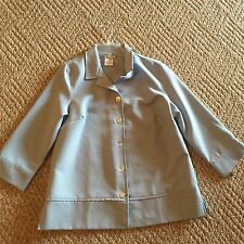 Light Blue Jacket , Shell Buttons, Size 14 NWT Easter