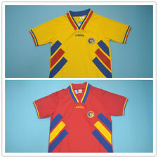 Romania Red Yellow Retro Soccer Jersey 1994 World Cup Hagi #10 Vintage Shirt