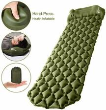 """Camping Sleeping Pad, Upgraded Inflatable Camping Mat with Built-in Pump, 2.5"""" T"""
