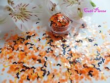 Nail Art Halloween *SpooKy* Translucent Hex Bats Chunky Mix Spangle Glitter Pot