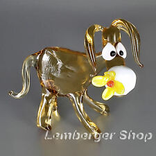 Figurine donkey handmade of COLORED GLASS 8 cm height NOT PAINTED Ornament  Gift