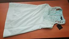 Nanette Lepore NWT $348 jungle sheath aqua dress 2
