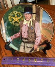 John Wayne Plate - Long Arm Of The Law-Robert Tanenbaum - Franklin Mint