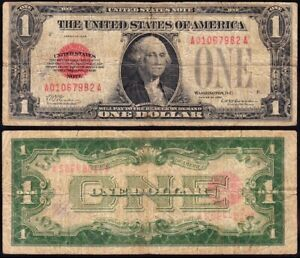 *SCARCE* 1928 $1 RED SEAL United States Note! FREE SHIPPING! A01067982A