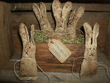 Primitive Grungy FIVE (5) CINNAMON BUNNS Bunnies Rabbits Spring Bowl Fillers