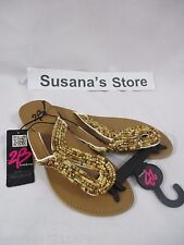 NWT BEBE FESTIVAL ATHENA BEADED SANDALS SIZE 5 OMG sandals with super sass