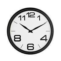 Wall Clock Small Round Plastic Kitchen & Office Modern Decoration White Face