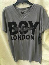BOY London v nick sz xl  NEW Mens T-shirt  gray fadede