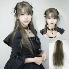 Yurisa Cute Harajuku Lolita Wig Smoke Dark Grey Gradient Full Long Hair Cosplay
