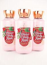 Bath Body Works Winter Candy Apple Body Lotion x 3 Shea & Vitamin E & Aloe 8oz