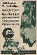 W3343 Shampo e Tonico al limone GIBBS - Pubblicità 1939 - Advertising