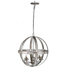 "Ordway Iron Sphere 6-Light Chandelier D23.5""-43291"