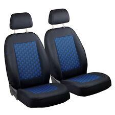 Schwarz-blau Effekt 3D Sitzbezüge für FIAT BARCHETTA Autositzbezug VORNE