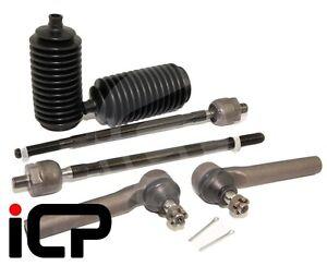 Inner, Outer Track Tie Rod Ends & Boots Fits: Subaru Impreza Turbo 01-07 WRX STi